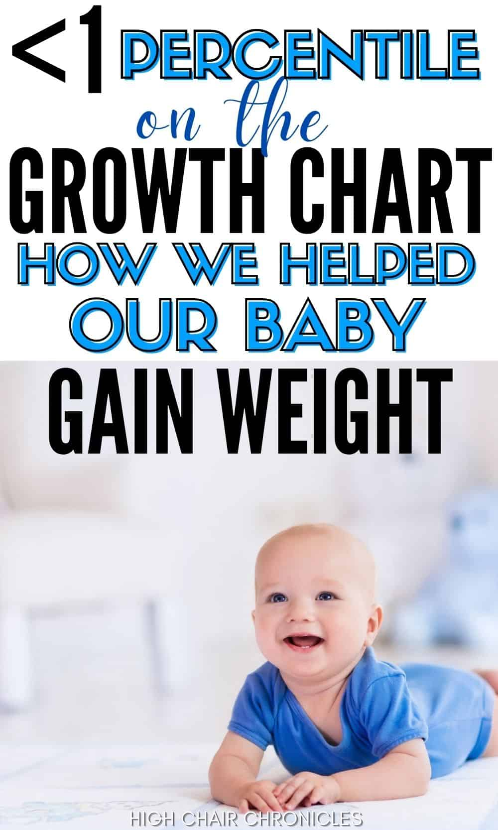 Pinnable image of how we helped our baby gain weight.
