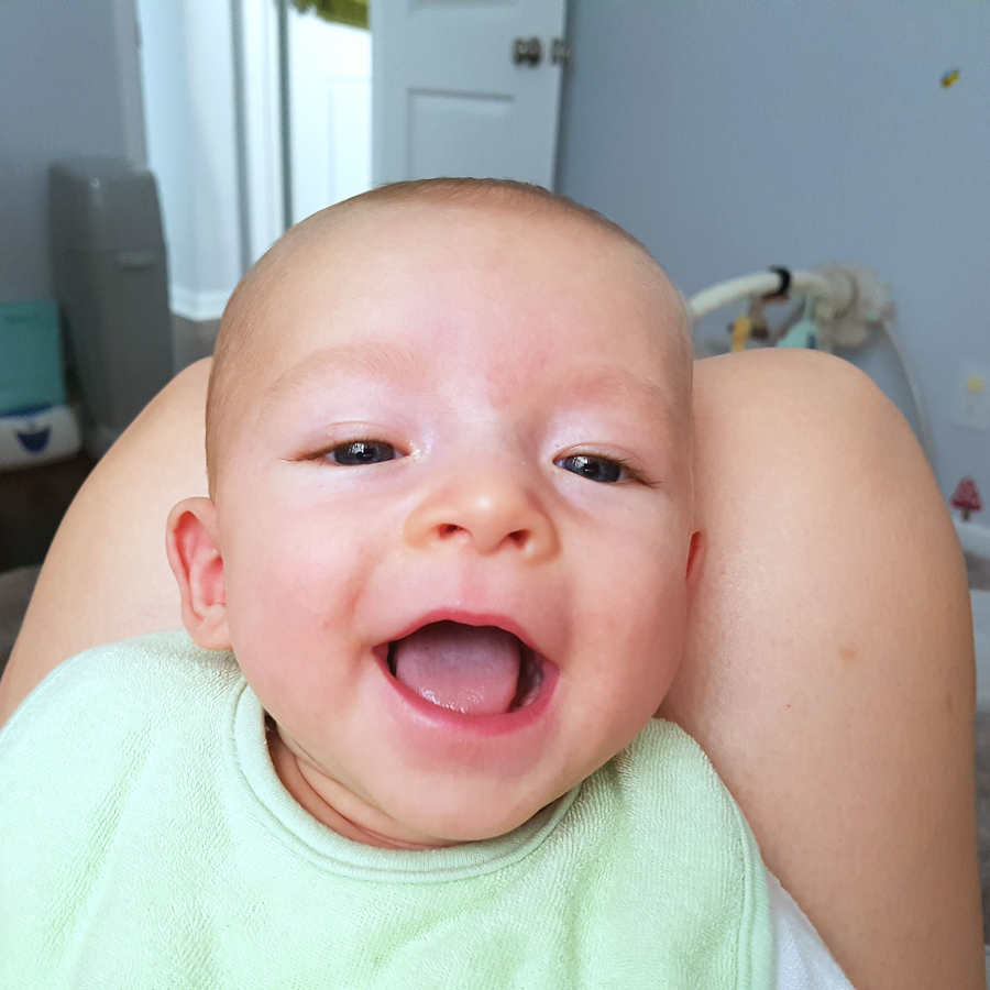 reflux and picky eating - happy baby after feeding