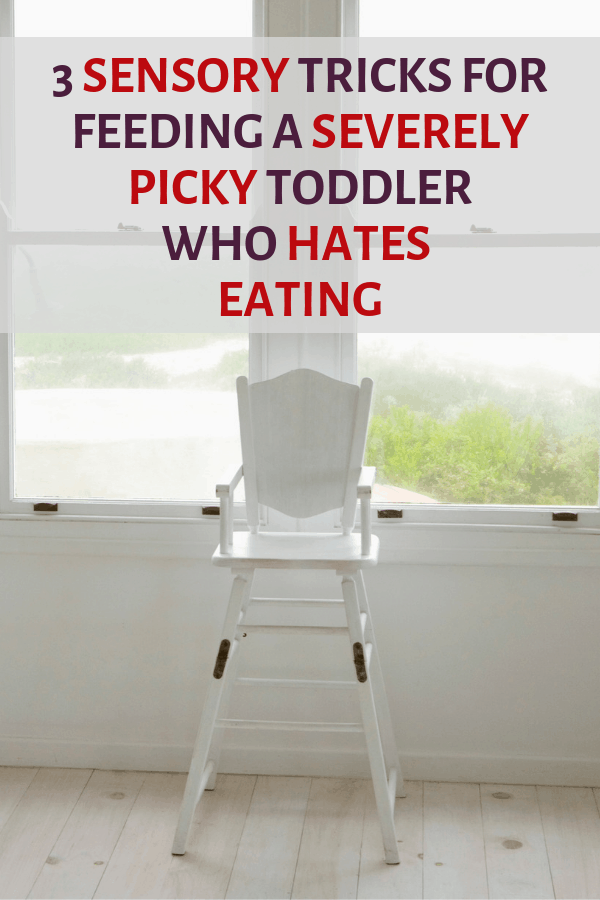 image of high chair: 3 sensory tricks to get your toddler to eat