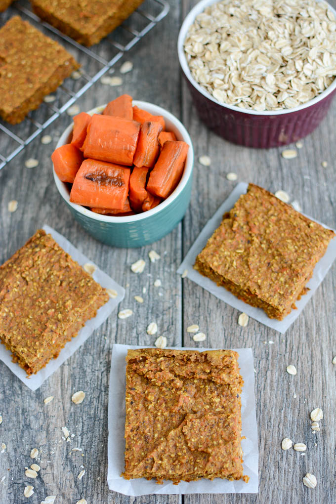 image of carrot oat bars