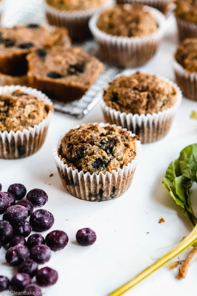 image of beet blueberry muffins