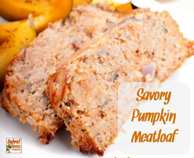 image of savory pumpkin meatloaf