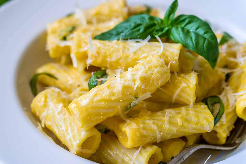 image of butternut squash alfredo pasta