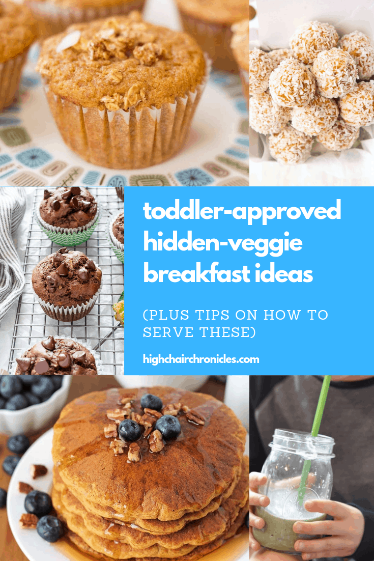 collage image of toddler friendly breakfast ideas