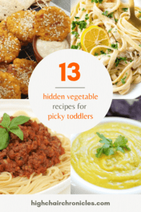 collage image of healthy hidden vegetable recipes for toddlers
