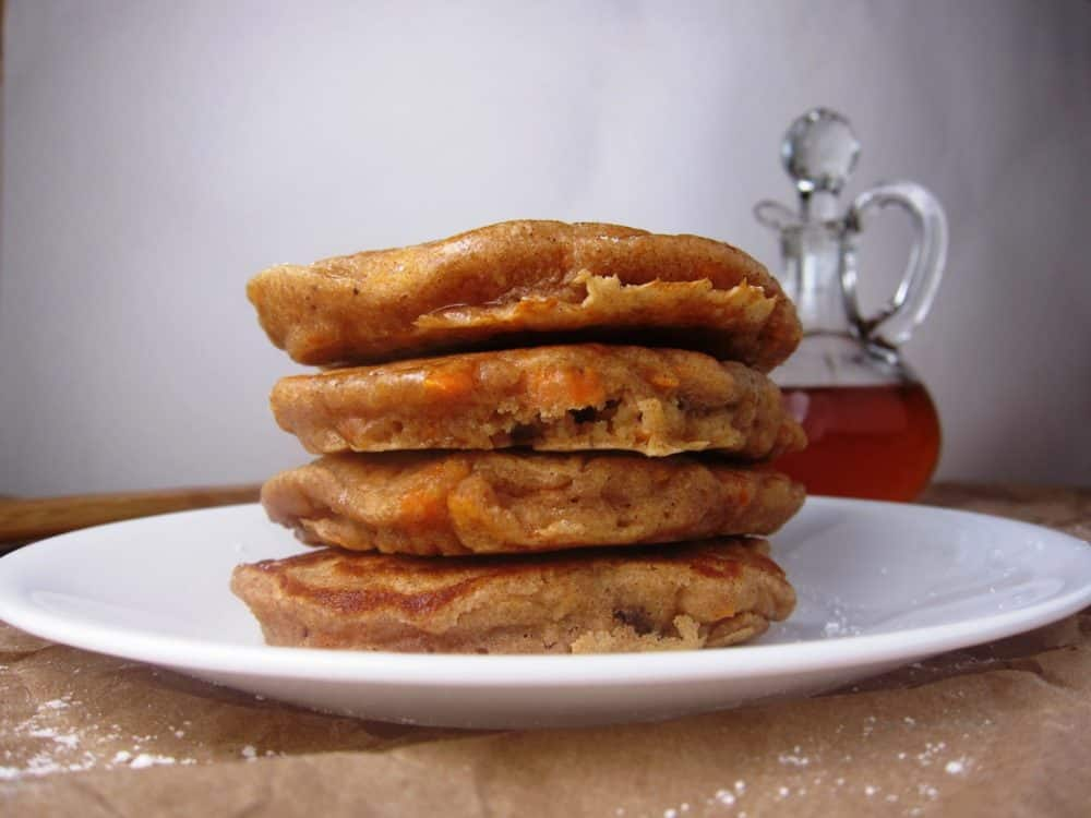 image of whole wheat carrot cake pancakes