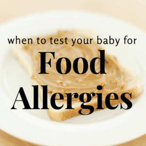 image of testing baby for food allergies