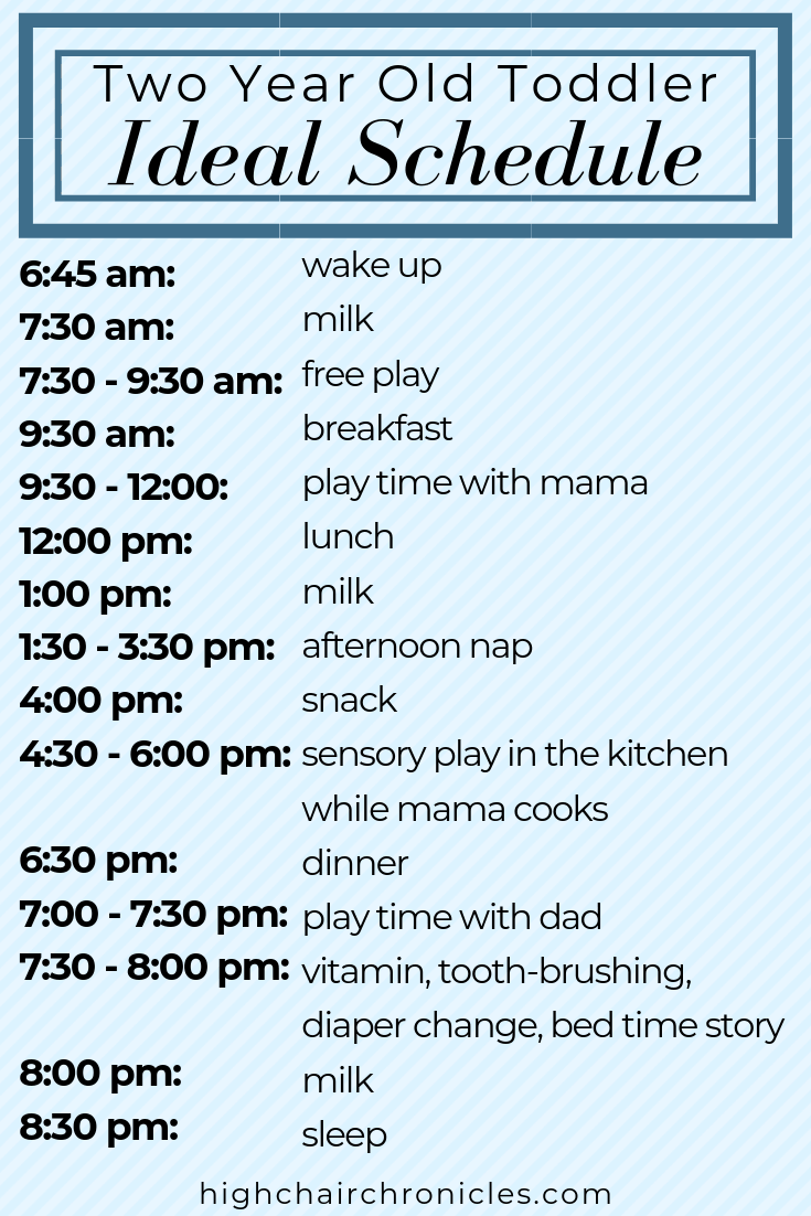 two year old schedule