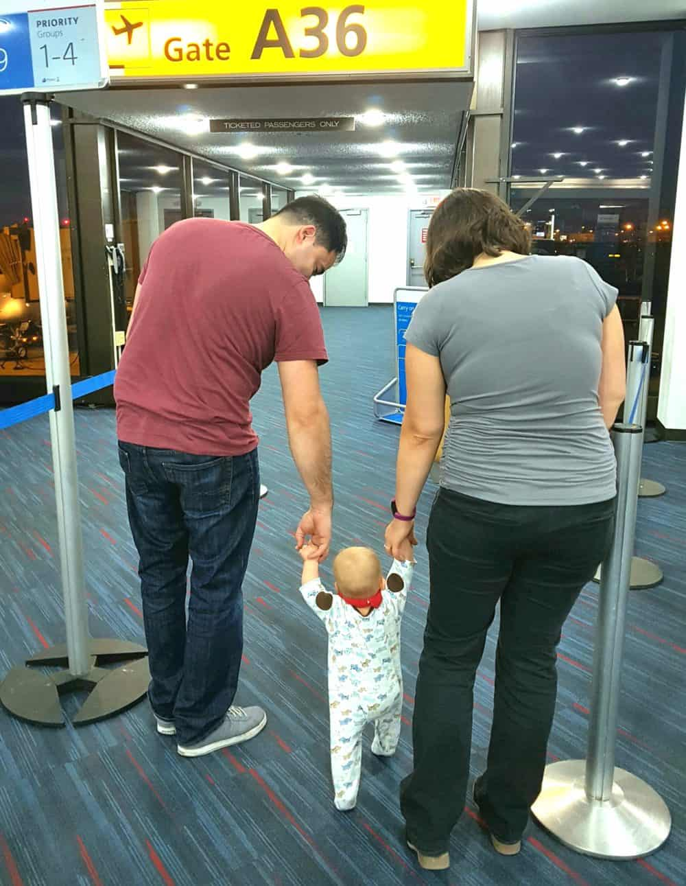 image of toddler in airport