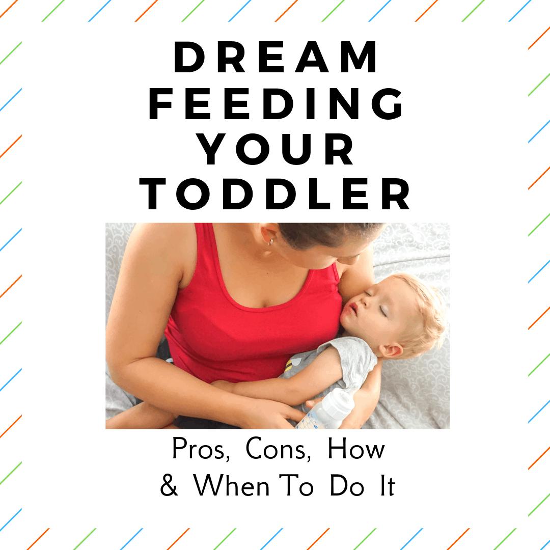 image of dream feeding toddler
