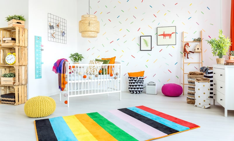 image of airbnb room with crib