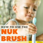 how to use the nuk brush pinterest image