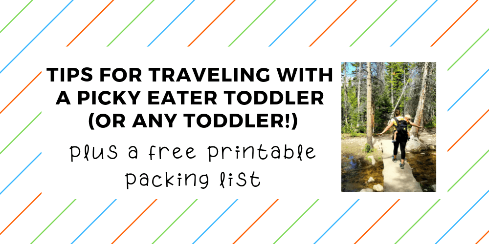 tips for traveling with a picky eater toddler