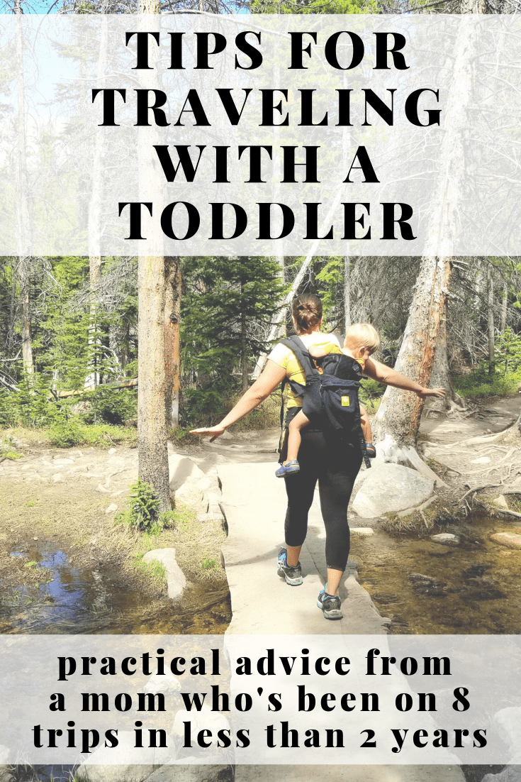 image of tips for traveling with a toddler