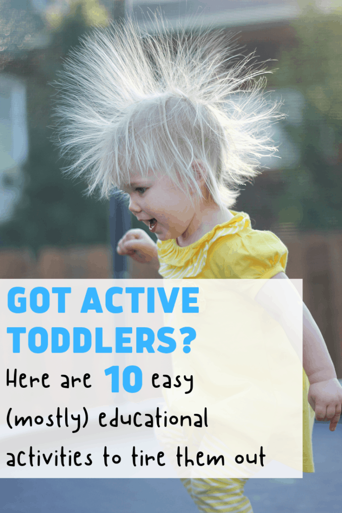 active toddler activities pinterest image