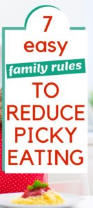 graphic of family rules to reduce picky eating