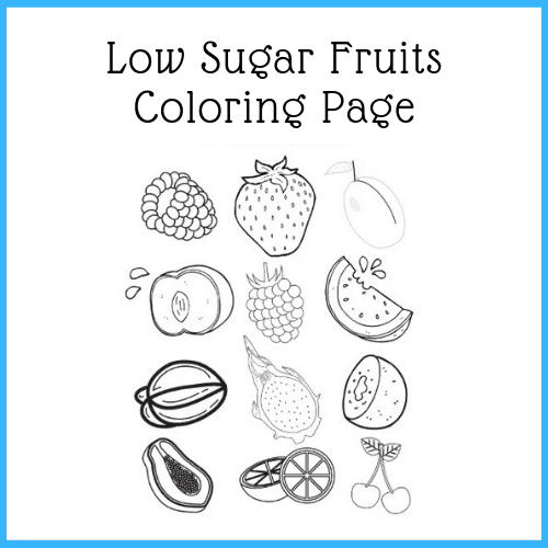 free printable - fruits coloring page