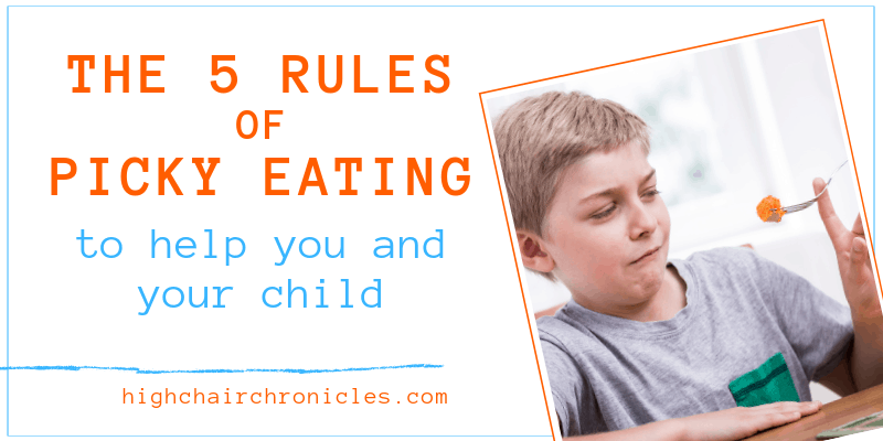 rules of picky eating graphic