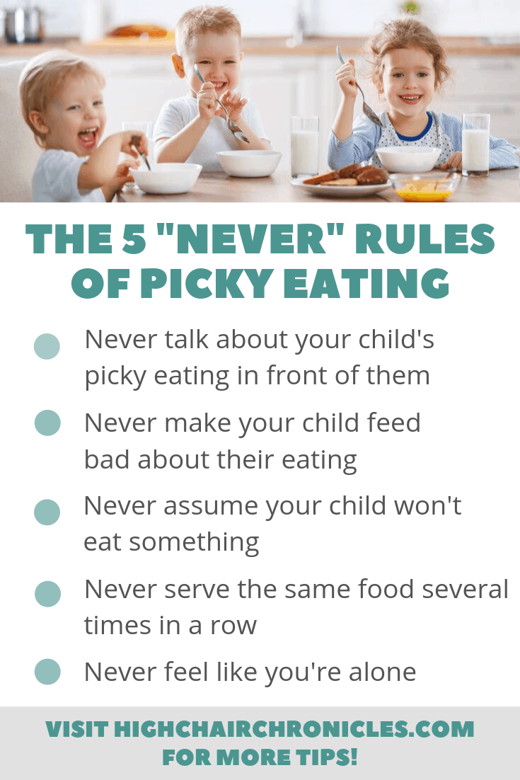 graphic of parenting tips about picky eating