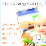 picky toddler's first vegetable graphic