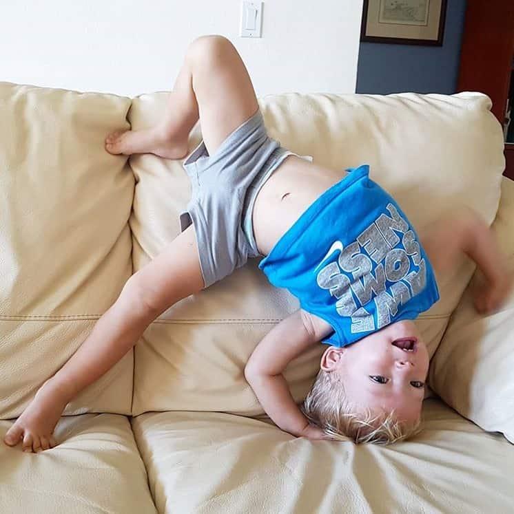 upside down active toddler