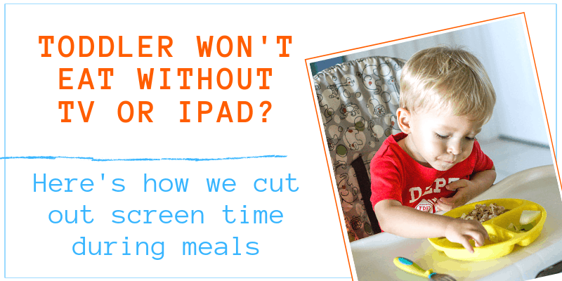 cutting out screen time during meals graphic