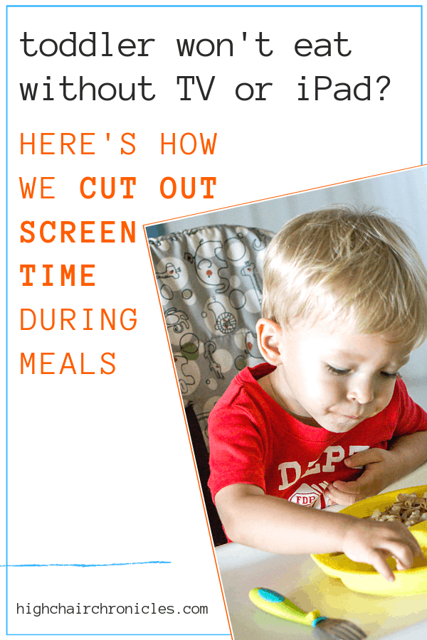 cutting out screen time during meals pinterest graphic
