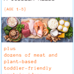 graphic for how much protein a toddler needs