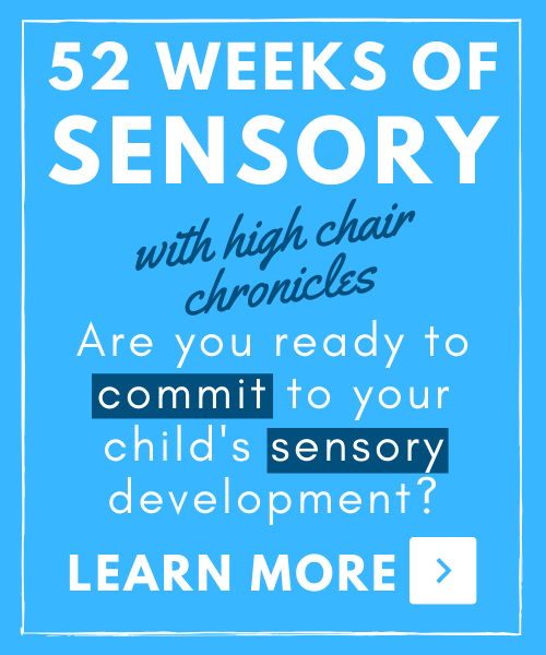 graphic of 52 weeks of sensory