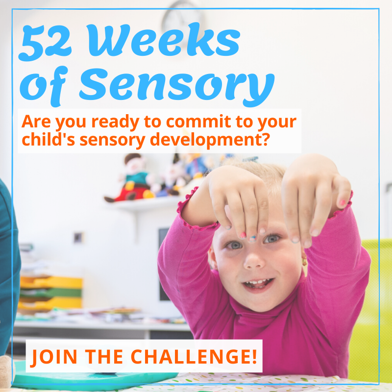 52 weeks of sensory activities for toddler graphic