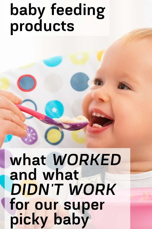 pinterest graphic of baby feeding products