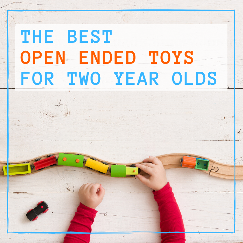 graphic of open ended toddler toys