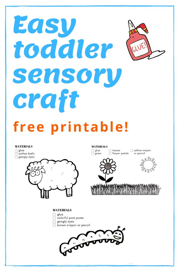 pinterest graphic for free toddler sensory printable