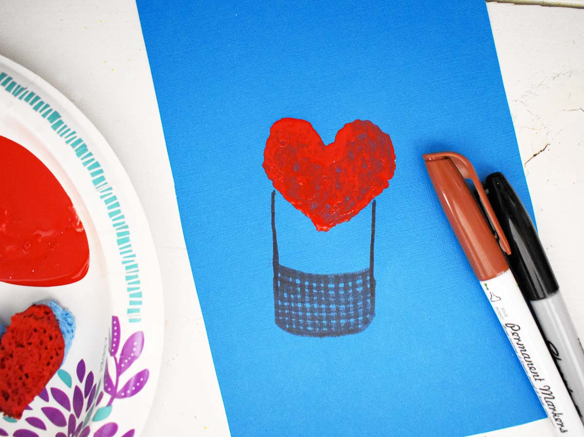valentine's day hot air balloon craft