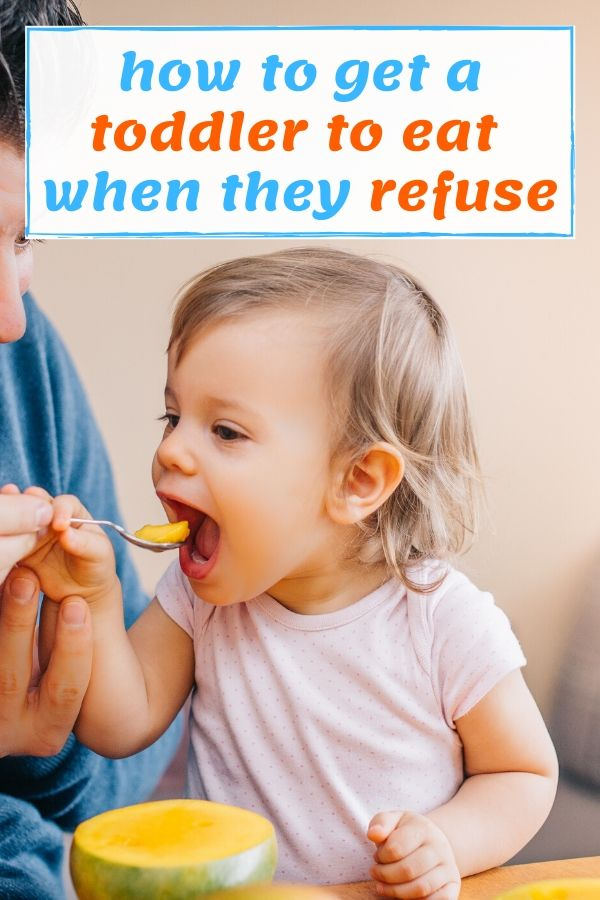 how to get a child to eat when they refuse - pinterest graphic