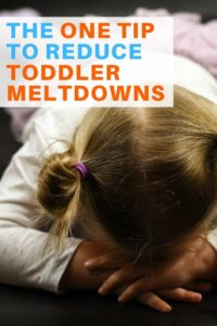 tip to reduce toddler meltdowns graphic