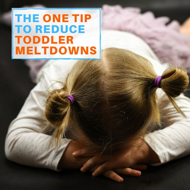 reducing toddler meltdowns graphic