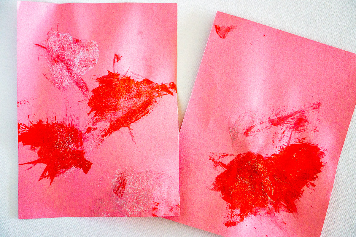 "toddler ""art"" - valentines day heart painting"