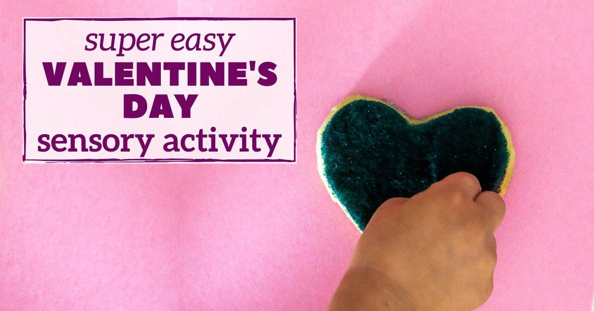 valentine's day sensory activity for toddler - facebook graphic