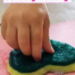 valentines day toddler craft sponge painting - pinterest graphic