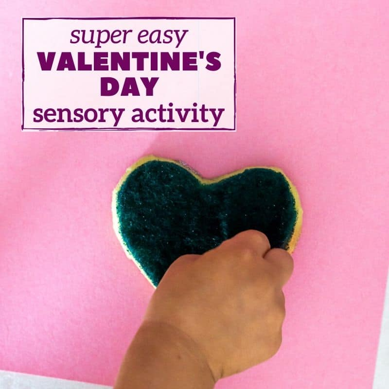 valentine's day sensory activity for toddler - sponge painting graphic