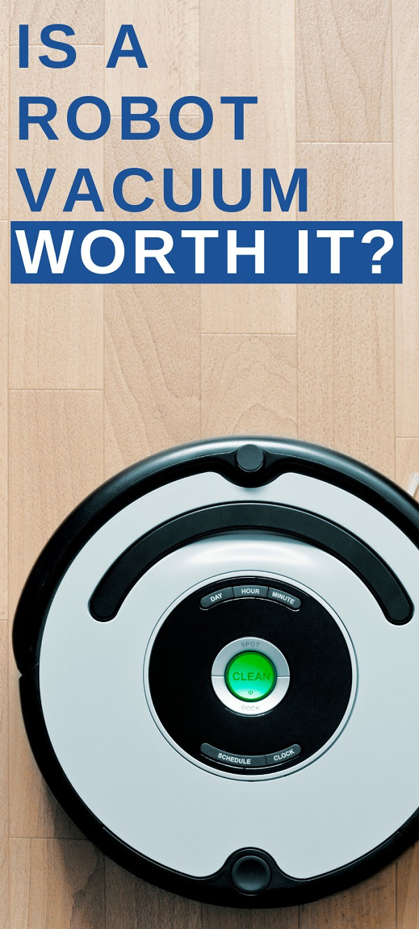 graphic with a robot vacuum