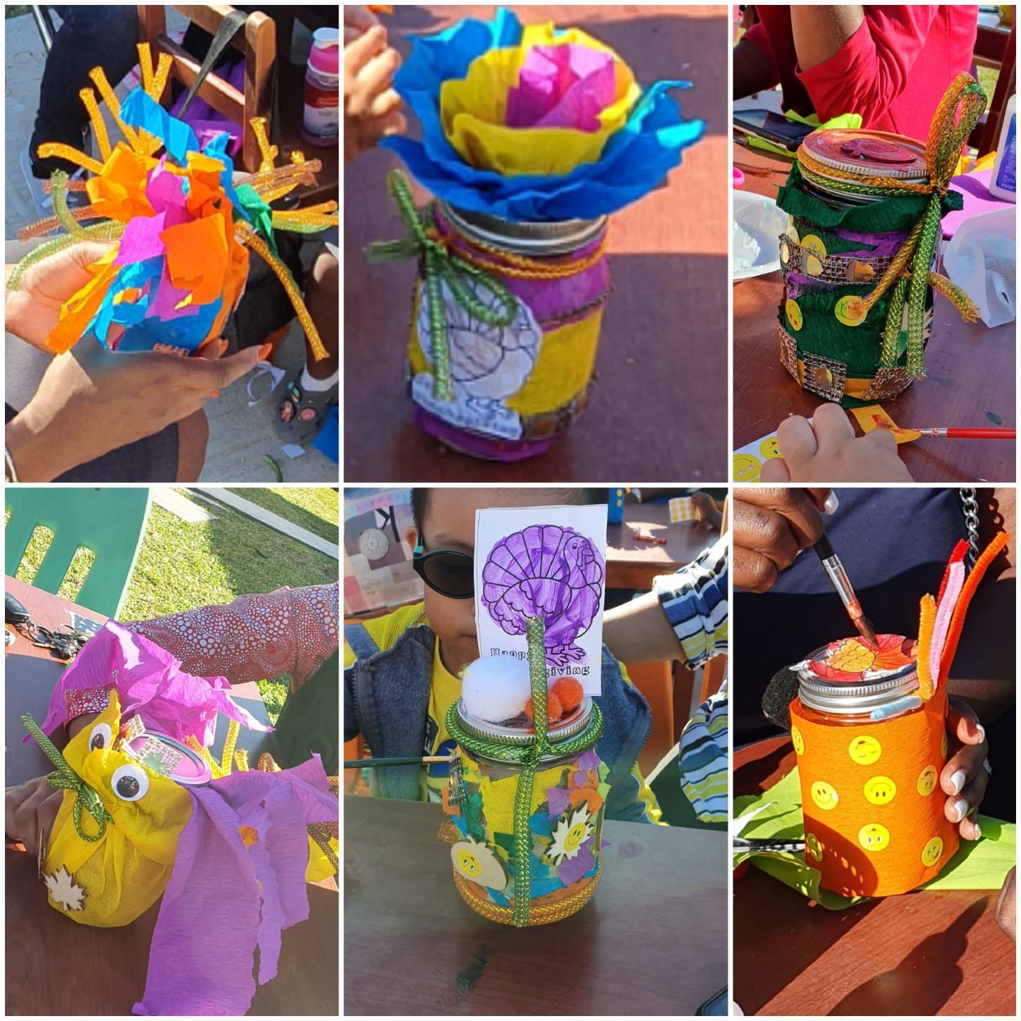 collage of toddler crafts - decorated candles