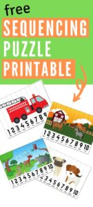 sequencing puzzle pinterest graphic