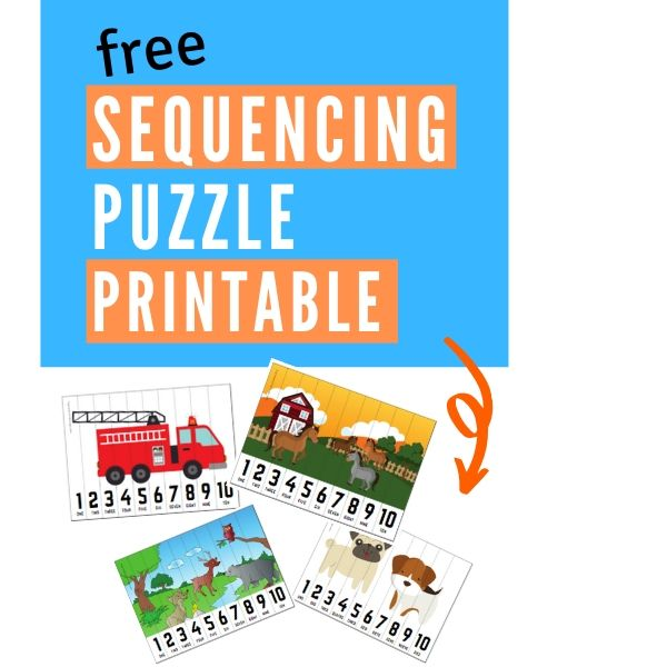 sequencing puzzle printable graphic