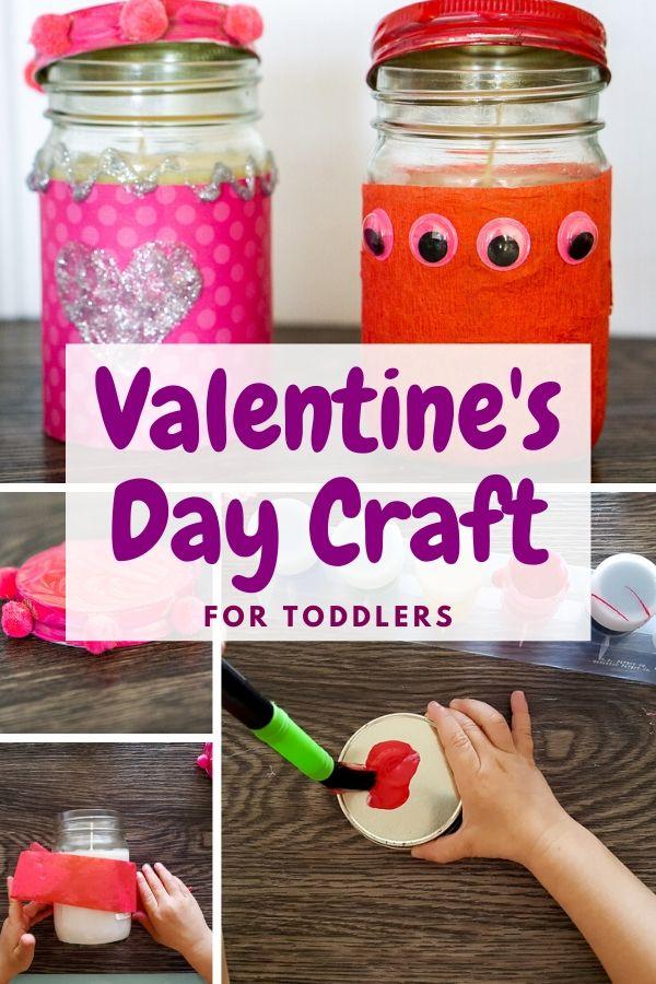 valentine's day toddler craft pinterest graphic