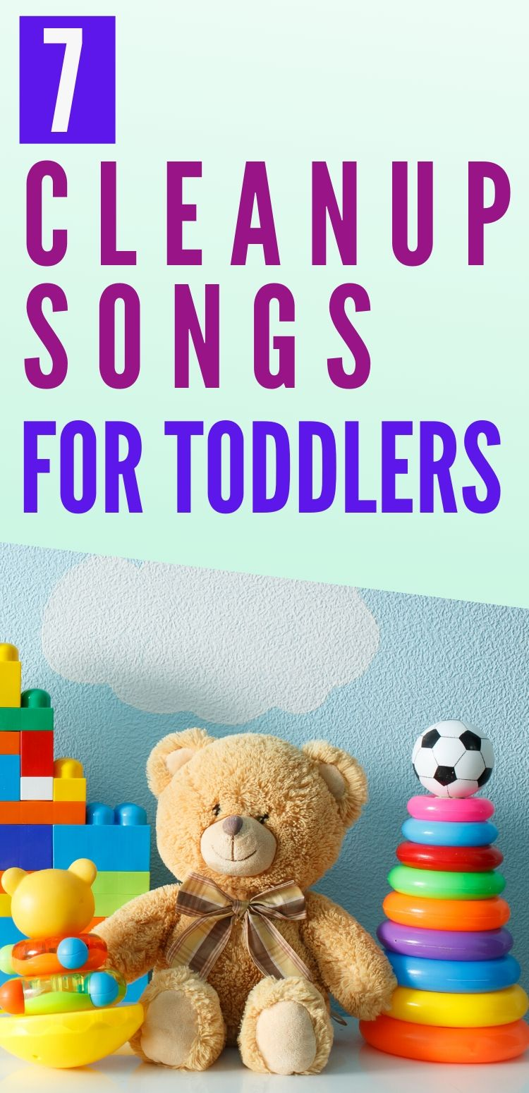 cleanup songs for toddlers pinterest graphic