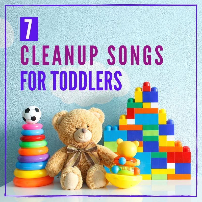 cleanup songs for toddlers graphic