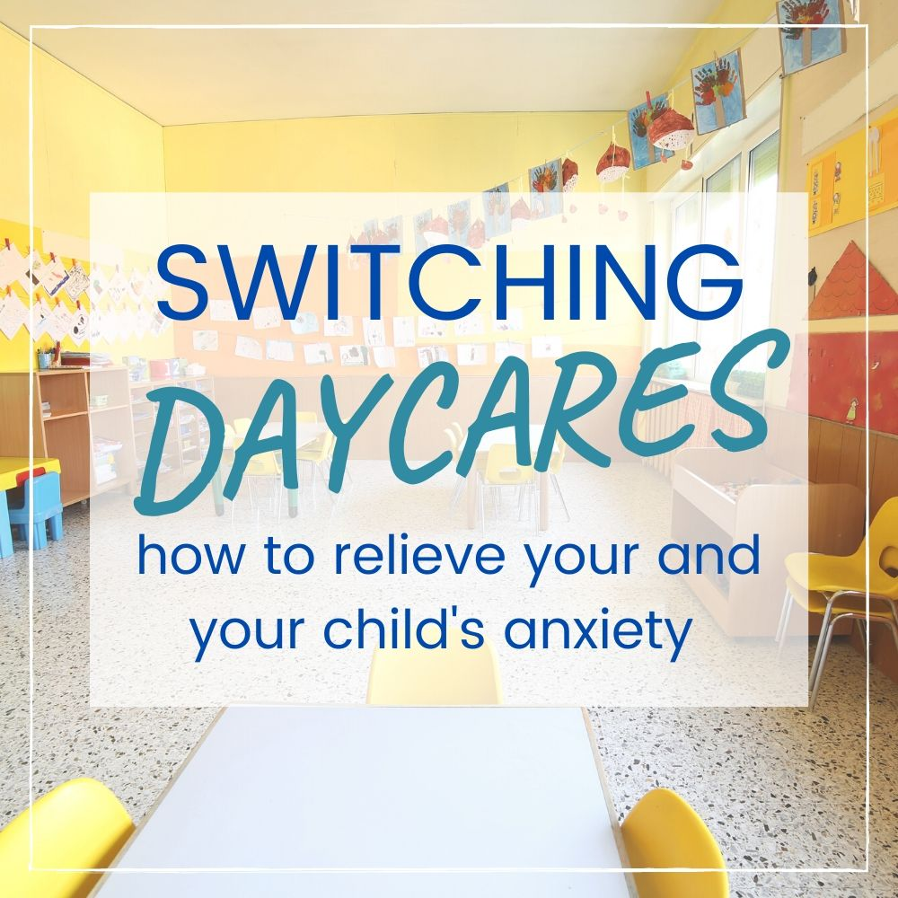 switching daycare toddlers tips graphic
