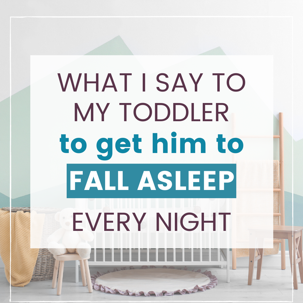 how to get toddler to sleep graphic